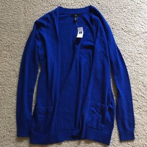 NWT Gap Royal Blue Cardigan